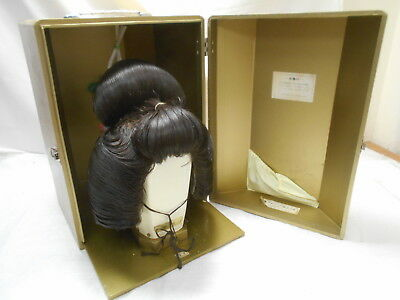 Vintage GEISHA GIRL WIG IN CASE Real Hair from Japan #19