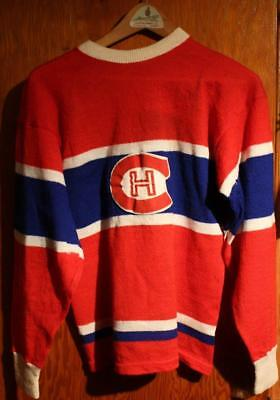 size 40 80902 a671e EARLY 1940'S MONTREAL Canadiens Wool Hockey Sweater Jersey Rare Adult Size!