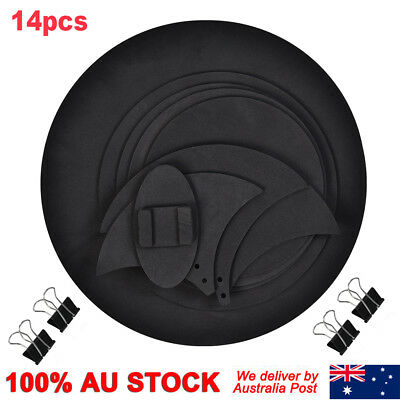 14Pcs Bass Sound Off / Quiet Drums Mute Silencer Drumming Practice Pad Parts
