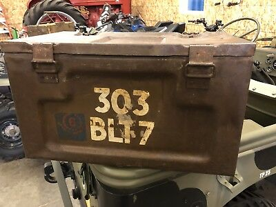 WW2 British 303 Vickers Empty Ammo Can 1945