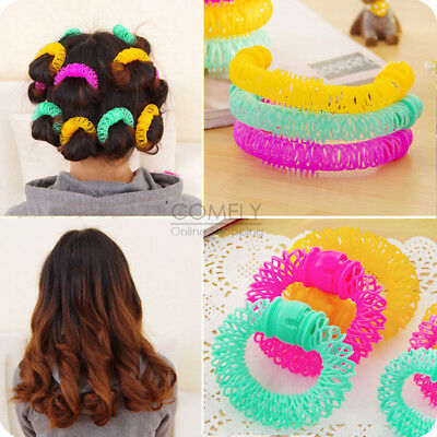 8pcs Women Bendy Spiral Hair Rollers Curlers Curls Styling DIY Hairdressing Tool