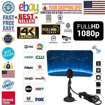 US STOCK HDTV Antenna TV Digital HD Skylink 4K Antena Digital Indoor HDTV 1080p