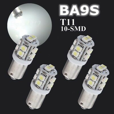 4x T11 BA9S 1895 T4W SMD Xenon Weiß LED Standlicht Innenraum Beleuchtung 12V
