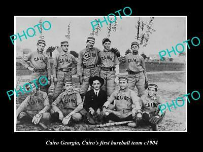 Old Large Historic Photo Of Cairo Georgia, The First Cairo Baseball Team 1904