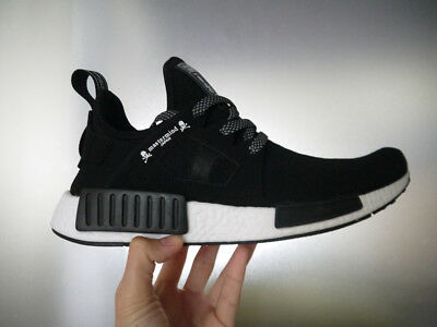 328360d50 Adidas MMJ Mastermind Japan NMD XR1 Black White Athletic Size 7 Shoes BA9726