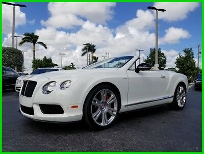 2014 Bentley Continental GT GT V8 Convertible 2014 GT V8 Convertible Used Turbo 4L V8 32V Automatic AWD Premium