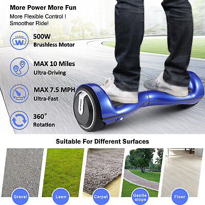 "6.5 ""Hoverboard 2 roue E-Scooter Conseil d'équilibrage LED + Bluetooth + sac"