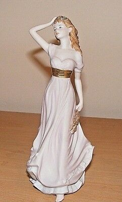 """The Welsh Porcelain Company  Bisque Figurine """"autumn""""made In Great Britain 9""""hi"""