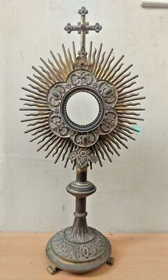 Gorgeous Antique Catholic Church Altar Gothic Monstrance Reliquary India Church