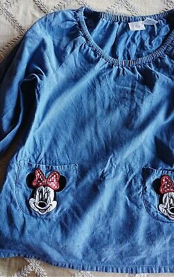 Girls H&M smock blouse size 12-18 mths pretty Minnie mouse top peasant blouse