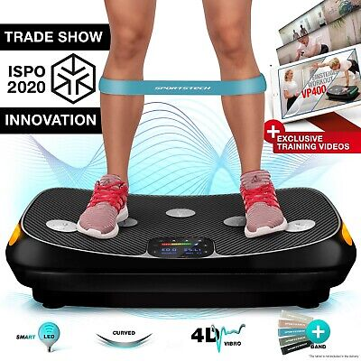 4D Vibration Plate VP400 with Unique Curved Design, Colour Touch Display