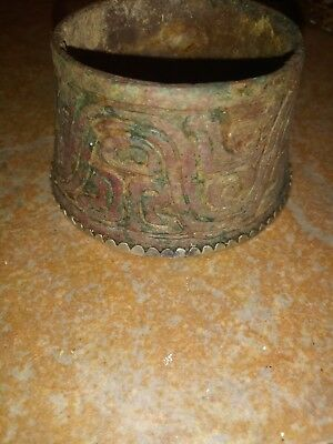 ANCIENT ANTIQUE CHINESE INCISED ASIAN POT INCENSE BURNER.r CENSER
