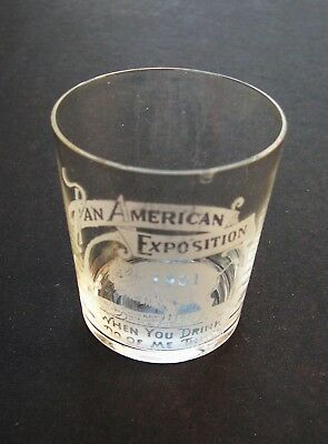 1901 Pan American Exposition souvenir glass