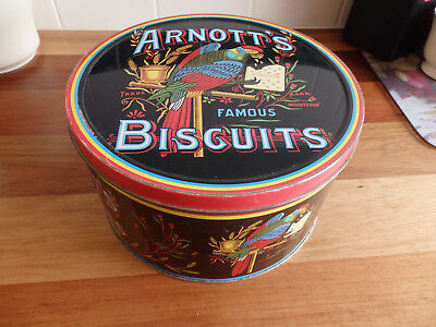 """Collectable Arnott's """" Cracker """"  Biscuit Tin. ."""