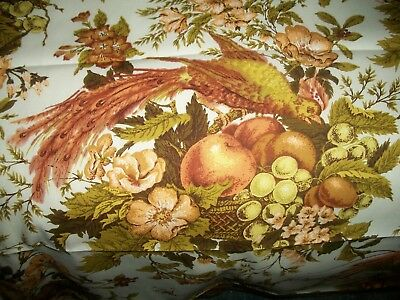 """Vintage 60's Upholstery Fabric Waverly """"Heirloom Documents"""" 55 X 78"""