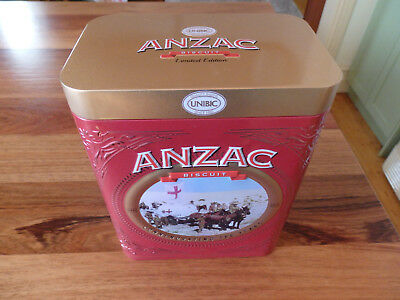 """Collectable Unibic Anzac biscuit tin .  """" Field Ambulance """".  (2018)."""