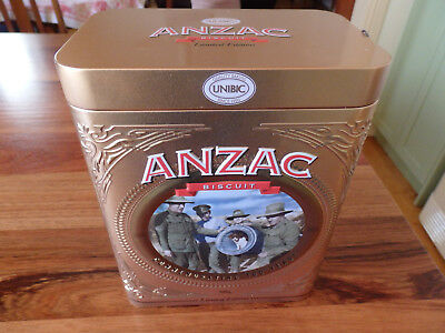 """Collectable Unibic Anzac biscuit tin .  """" Regimental Mascot """".  (2018)."""