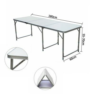 Heavy Duty 1.8m 6ft Folding Catering Camping Trestle Table Dinner & Picnic Party