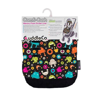 Brand new in pack CuddleCo comficush memory foam stroller liner in robots