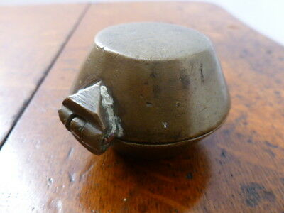 Antique brass or bronze Betel Lime Box Indian India 19th Century