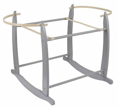 Brand new in box Clair de lune deluxe rocking moses basket stand in grey