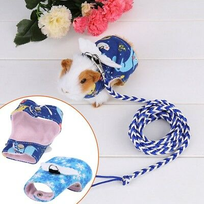 Small Animal Harness Guinea Pig Hamster Rabbit Squirrel Vest Clothes Lead K6