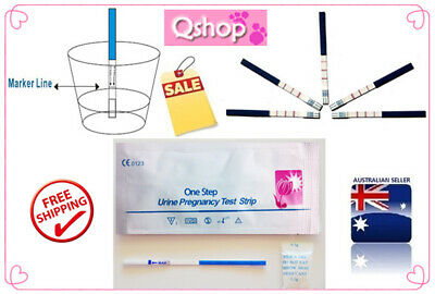 6 x ONE STEP URINE PREGNANCY TEST STRIP-EARLY TEST-FREE POSTAGE