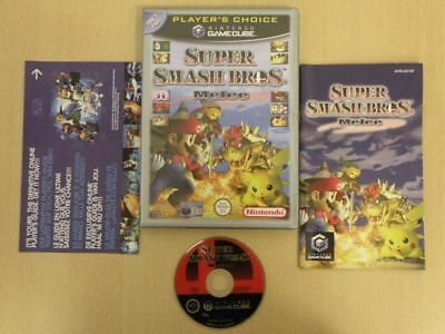 Nintendo Gamecube Game * SUPER SMASH BROS MELEE PLAYERS CHOICE * Complete 31017