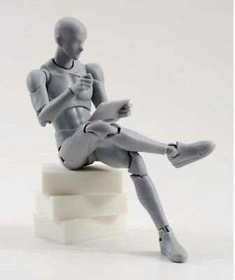 S.H.F Man Male Body Model Gray Color Flexible Action Figure For Collection
