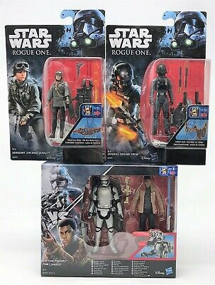 "Star Wars Rogue One Phasma Finn Jyn Erso Ground Crew 3.75"" Action Figure Toy"