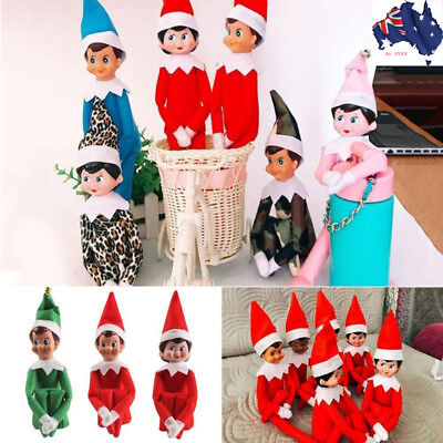 Christmas Plush Dolls Elf On The Shelf Xmas Pendant Novelty Toy Xmas Gifts AU!!