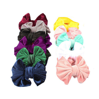 Baby Girls Kids Hairband Elastic velvet Band Headband Flower Hair Accessories NE