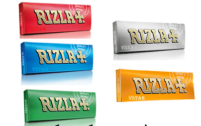 Rizla Green, Silver, Liquorice, Red & Blue Regular Rolling Papers 12 Booklets