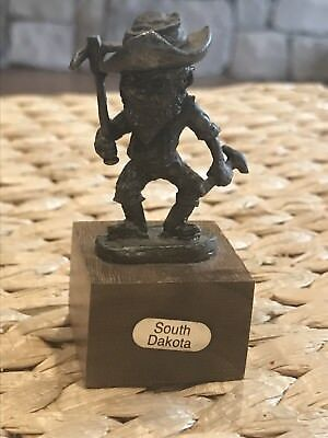 Vintage South Dakota Miniature Metal Gold Miner