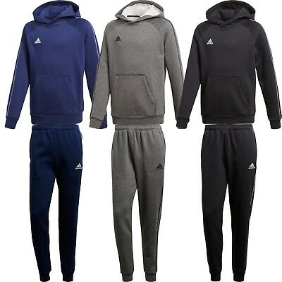 Adidas Boys Kids Fleece Tracksuit Jogging Bottoms Hoodie Top Training Pants