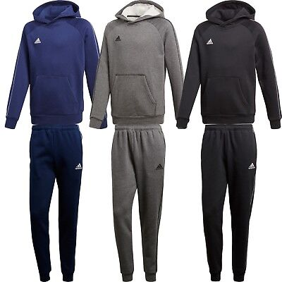 Adidas Boys Tracksuit Hoodie Kids Fleece Jogging Bottoms Top Training Pants