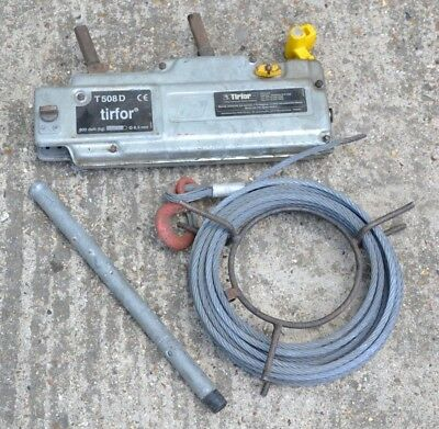 Tractel Tirfor T508 800KG Winch Cable Wire Rope Turfor Grip Hoist