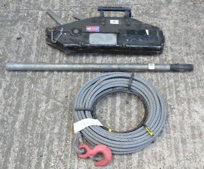 Tirfor 1600KG Winch Cable Wire Rope Turfor Grip Hoist