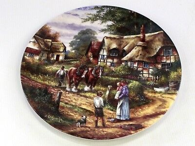 """""""Ploughing"""" Country Days by Chris Howells Wedgwood  Collectors Plate - No 5924C"""