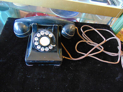 Vintage Western Electric Company Black Rotary Dial Desk Top  Telephone