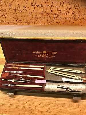 Antique Drafting / Engineering Ruler Set by G.R.K. DAVIES, CARY LONDON, ENGLAND