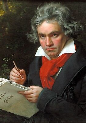 A Portrait of Beethoven. Vintage Classical Music Poster