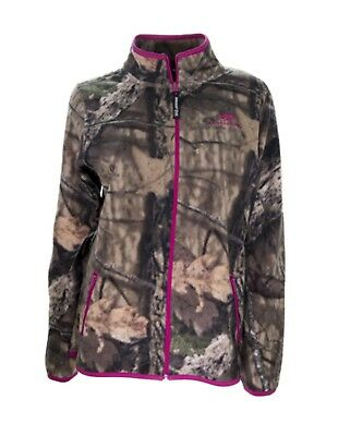 8666311b57fdc Women Camo Micro Fleece Full Zip Jacket Pink Accents Country Mossy Oak  Realtree