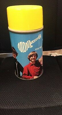 The Monkees metal Thermos 1967 from the vinyl Lunchbox