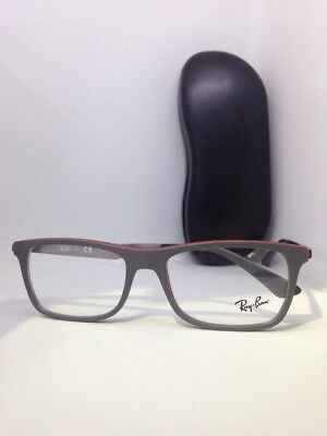 f22f34df13 NEW Authentic Ray Ban RB 7062 5576 Matte Grey on Red New Eyeglasses 53mm