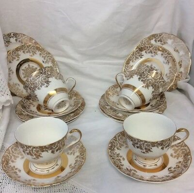 Royal Vale wedding china Gilded 22 Ct Gold Decorated
