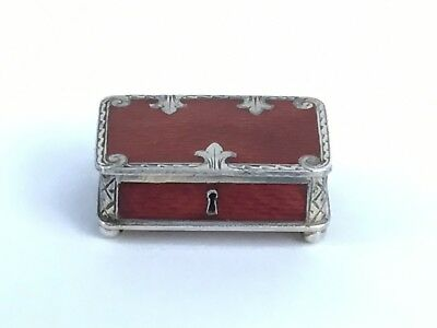 Superb Antique Silver And Enamel Patch Or Pill Box, Austro-Hungarian, Very Small