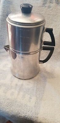 Vintage Wear Ever 8 Cup Stove Top Drip Coffee Pot Percolator