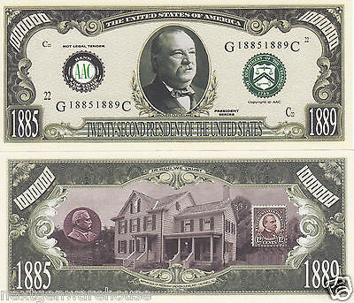 Two Grover Cleveland 22nd US President (1st Term) Bills # 22