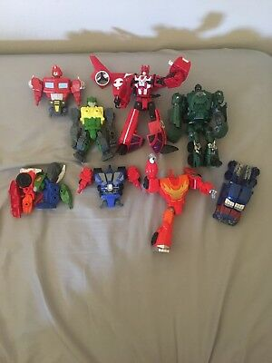 Mixed lot of transformers incomplete broken parts